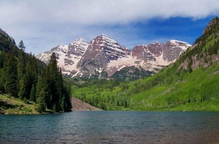 colorado mountains: Summer Maroon Bells of Colorado