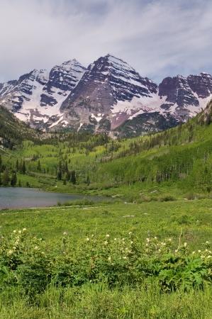 Summer Maroon Bells of Colorado
