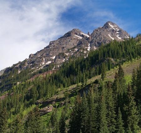 Two Mountain Peaks
