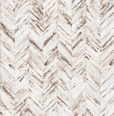 シェブロン古い塗られた寄木細工のシームレスな床のテクスチャ 写真素材