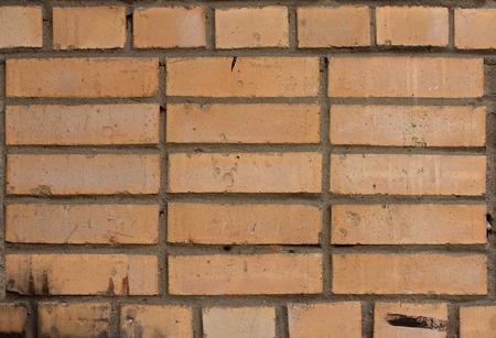Yellow masonry brick texture Stock Photo