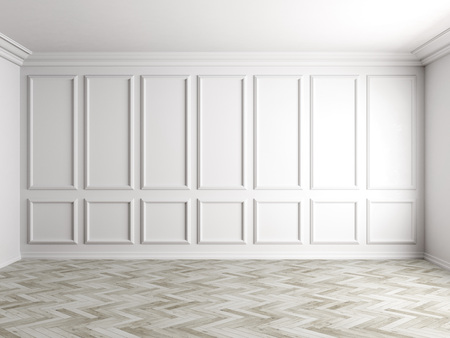 3d render of white interior with panels on wall 8000px