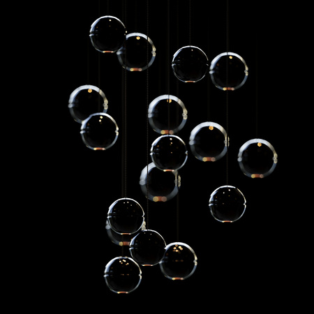 Back lights on sphere lamp