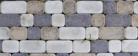 Paving slabs for sidewalk texture or background Stockfoto