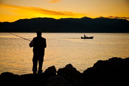 nafplio: Fisherman at Nafplio, Greece