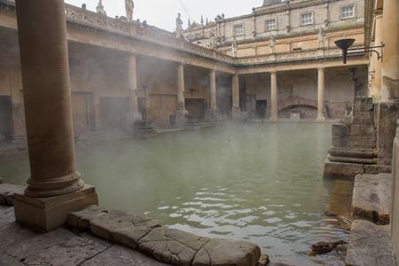 Ancient Roman Baths, Bath, Somerset, England photo