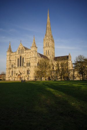 wiltshire: Salisbury cathedral, Salisbury, Wiltshire, England Stock Photo