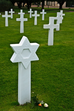 COLLEVILLE-SUR-MER, FRANCE - SEPTEMBER 21  The American World War II Cemetery in Colleville-sur-Mer, Normandy, France, on September 21, 2012  It is located near the D-day Omaha Beach