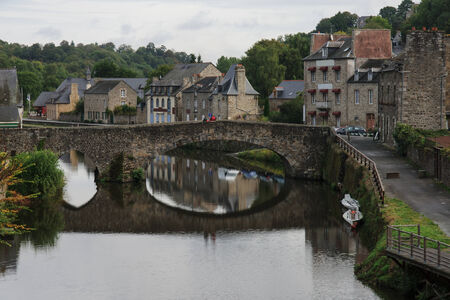 dinan: The old port area, Dinan, Brittany, France