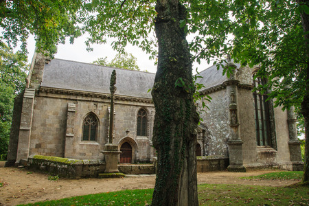 cotes d armor: Chapelle de Kerfons - The old church of Kerfons, Ploubezre, Brittany, France
