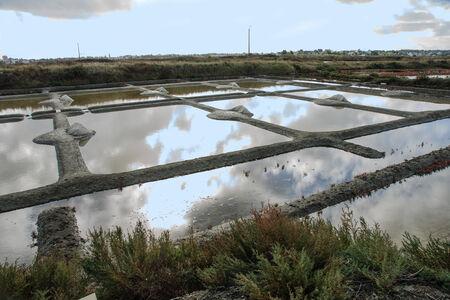 evaporation: Salt evaporation ponds in Guerande, Brittany, France