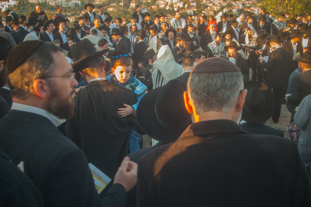 HAIFA, ISRAEL - APRIL 8  Prayers make sun blessing  Birkat Hachama  at sunrise, April 8, 2009 in Haifa, Israel  This Jewish tradition is performed once in 28 years