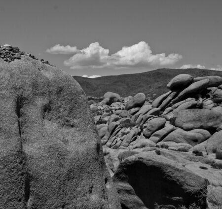 Rocks in Joshua Tree national park, California, USA photo