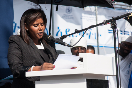knesset: JERUSALEM - OCT 31  Pnina Tamano-Shata, Member of the Knesset speaks at the Sigd Celebration - Oct  31, 2013 in Jerusalem, Israel  The Sigd is an annual holyday of the Ethiopian Jews  Editorial