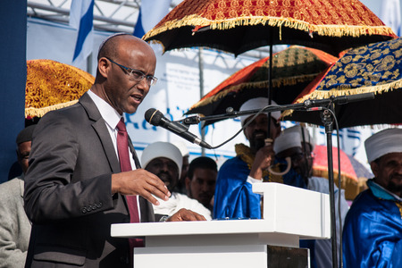 knesset: JERUSALEM - OCT 31  Shimon Solomon, Member of the Knesset speaks at the Sigd Celebration - Oct  31, 2013 in Jerusalem, Israel  The Sigd is an annual holyday of the Ethiopian Jews