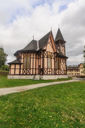 stary: Wooden church in Stary Smokovec, High Tatras National Park, Slovakia