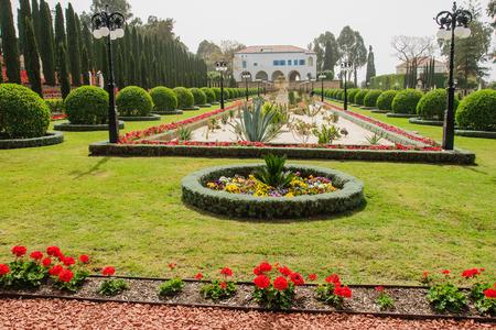 bahai: The Bahai gardens, in Acre, Israel Stock Photo