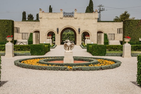 acre: The Bahai gardens, in Acre, Israel Stock Photo