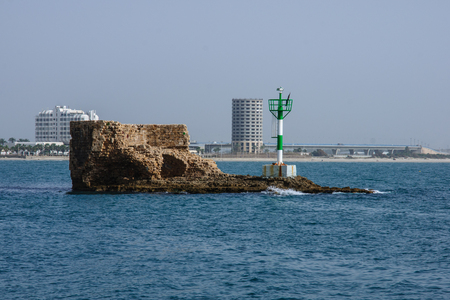 acre: The Tower of the Flies - a medieval guard tower in the old harbor of Acre, Israel