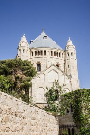 The Dormition Abbey, Mount Zion, Jerusalem, Israel photo