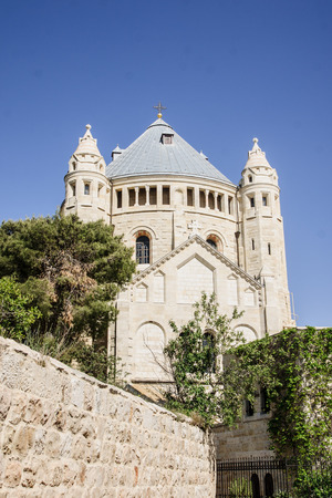 The Dormition Abbey, Mount Zion, Jerusalem, Israel photo