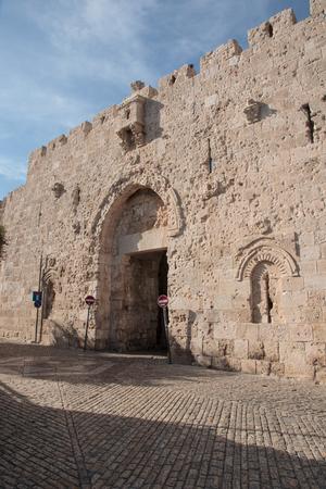 A Sion-kapu, a falak, a régi város Jeruzsálem, Izrael Stock fotó - 29371565