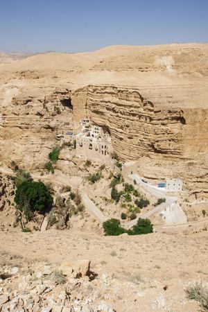 judean desert: Saint George Monastery, Wadi Qelt, Judean Desert, Israel   West Bank