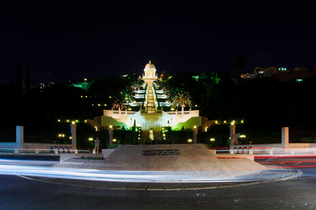 baha: The UNESCO square and the Bahai gardens and temple, on the slopes of the Carmel Mountain, in Haifa, Israel  These gardens are on UNESCO heritage sites list