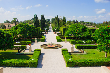 acre: The Bahai gardens, in Acre, Israel