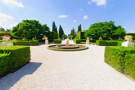 baha: The Bahai gardens, in Acre, Israel