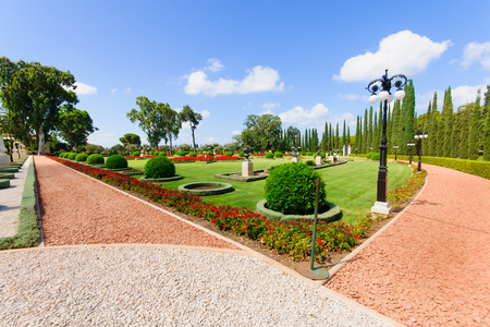 The Bahai gardens, in Acre, Israel  Stock Photo