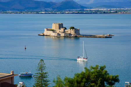 nafplio: An old fortress island, in Nafplio, Peloponnese, Greece