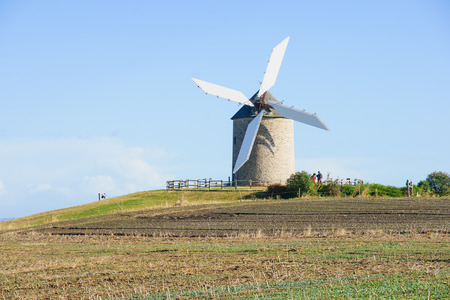 moulin: Le Moulin de Moidre, Old windmill, Normandy, France Stock Photo