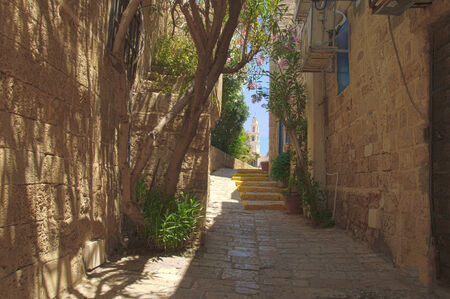 yaffo: Un callej�n en la ciudad vieja de Jaffa, Tel-Aviv, Israel