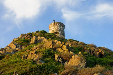 La Tour de la Parata - a ruined Genoese tower in Ajaccio, Corsica, France photo