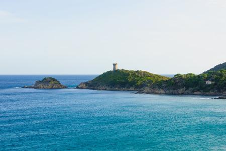 La tour de Fautea, Genoese tower, Corse-du-Sud, Corsica, France photo