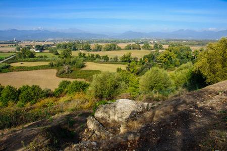 Corsican countryside view near Aleria, in Corsica, France