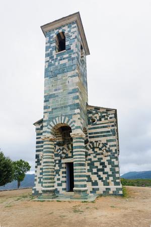 san michele: San Michele de Murato church in Murato, Haute-Corse, Corsica Stock Photo