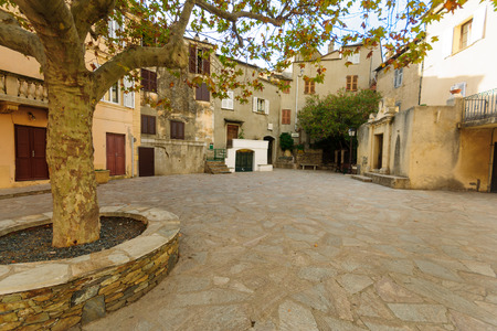 The village of Nonza, in Cap Corse, Corsica, France