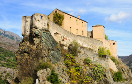citadel: The citadel of Corte, in Corsica, France Editorial