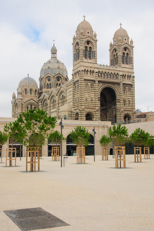 cathedrale: The Cathedrale de la Major (main cathedral), in Marseilles, France Stock Photo