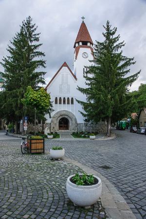 visegrad: The parish church in Zebegeny, Hungary Stock Photo