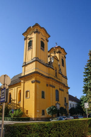 franciscan: Franciscan church, Eger, Hungary Stock Photo