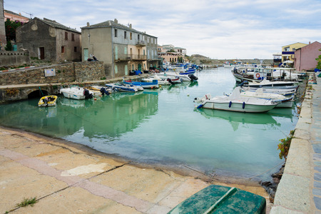 Scene of the old port in Centuri, Cap Corse, Corsica, France