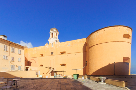 donjon: The Governors Palace and place du Donjon square, in the citadel, Bastia, Corsica, France