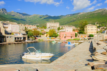 corse: The village of Erbalunga, in Cap Corse, Corsica, France Editorial