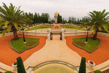 The Bahai gardens and temple, on the slopes of the Carmel Mountain, in Haifa, Israel