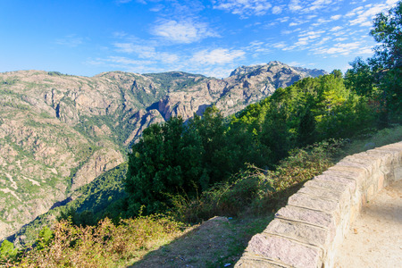 gorges: View of the Gorges de Spelunca, in Corsica, France