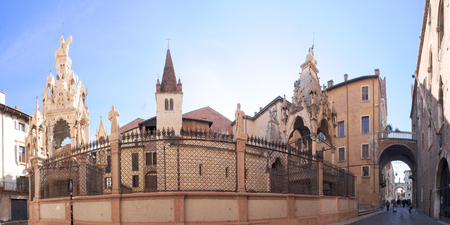veneto: The Scaliger Tombs in Verona, Veneto, Italy