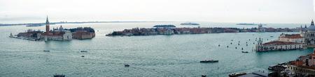 lido: Panoramic view of San Giorgio Island and the Lido, in Venice, Veneto, Italy